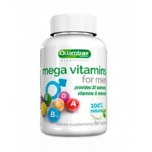 Витамины Quamtrax Nutrition Mega Vitamins for Men 60 таблеток